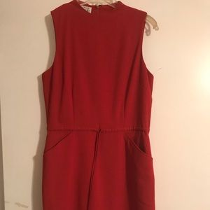 Rust pocket dress